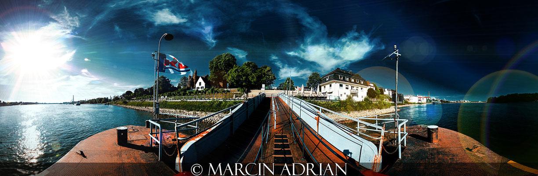 ©, Marcin Adrian, Rheinpromenade, Rheinufer, Wesseling