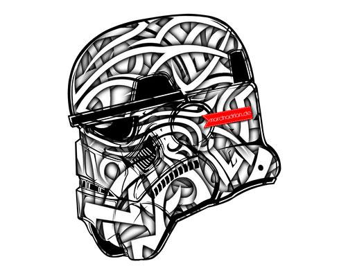 Star Wars - Krieg der Sterne, Stormtrooper, Marcin Adrian / marcinadrian starwars, Krieg der Sterne, Helm, Hollywood, Stormtrooper, sturmtruppen, film, Mask, Maske, Stormtrooper, starwarsgrafik, Illustration, starwarsillustration, Grafiker, art