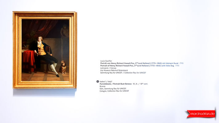 Portrait of Henry Richard Vassall - Fox , 3rd Lord Holland ( 1773-1840 ) with little Dog 1795 / Canvas. Arp Museum Bahnhof Rolandseck, Hans-Arp-Allee 1, 53424 Remagen www.arpmuseum.org #meinWesseling Fotograf aus Wesseling © Marcin Adrian #MarcinAdrian