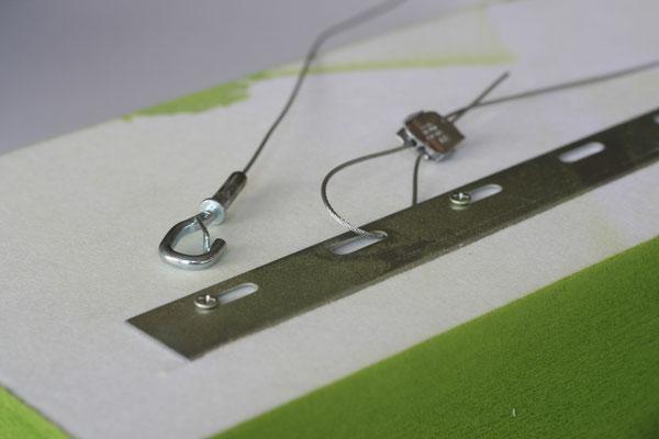 Segelmontage mit Minihaken