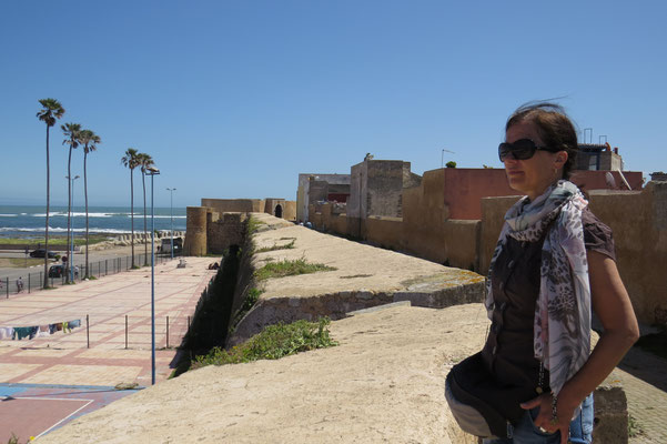 Stadtmauer zum Land hin