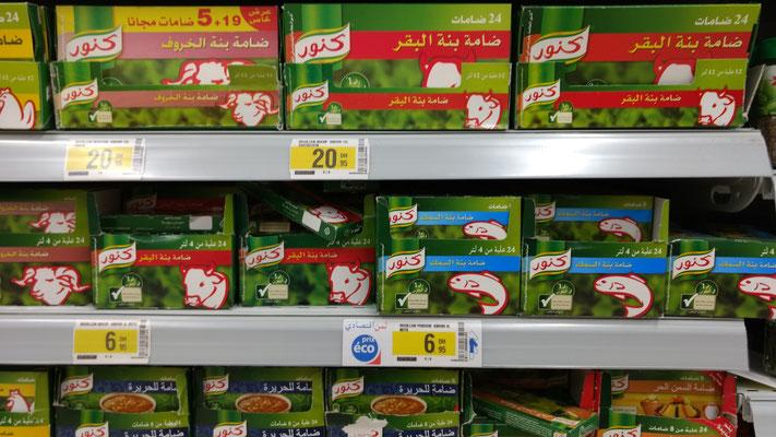Knorr gibt´s hier auch (allerdings keine Hüttenschmaus-Schinkennudeln)
