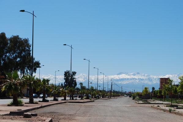 Fahrt Richtung neu Marrakech