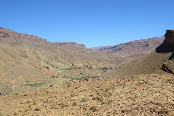 Blick ins weite Tal vor der Engstelle
