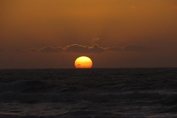 ...beim Sonnenuntergang