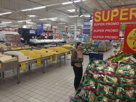 Einkaufen im Marjane (Reis und Nudeln ohne Plastiktüten!)