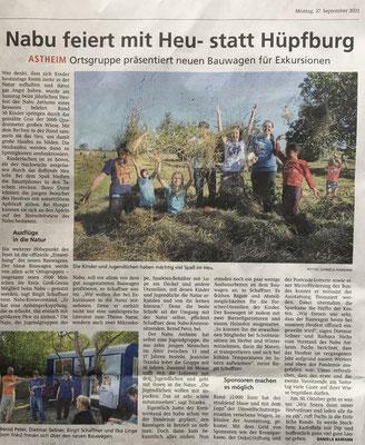 Bericht Daniela Hamann Rüsselsheimer Echo 27.09.21