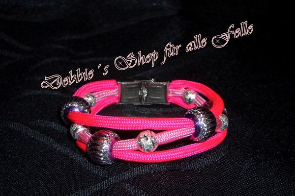 ´Schmuckarmband mit verschiedenen Beads und Edelstahl Klemmverschluss
