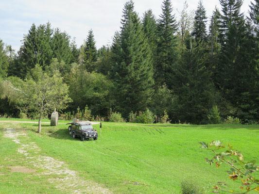 Unser offiziell bewilligte wilde Stellplatz im National Park Risnjak