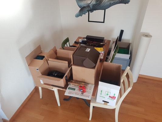 Der Challenge war, alles richtig zu verpacken...