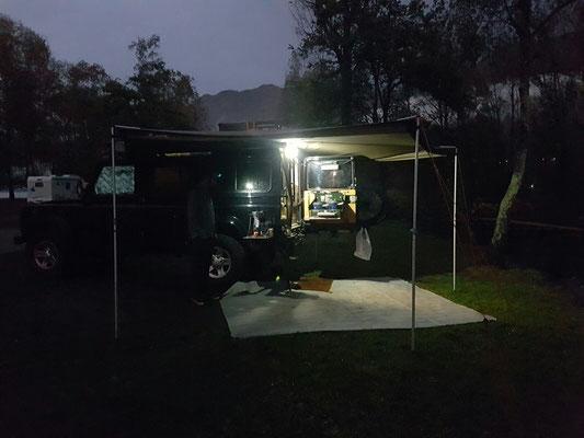 Abends auf dem Camping Delta