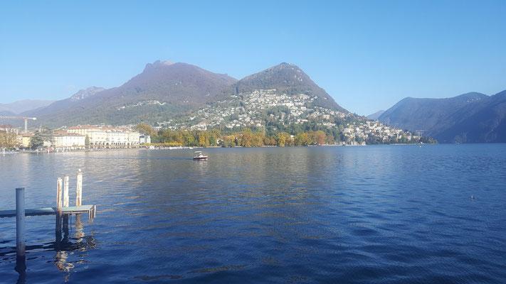Ende der MTB Tour Monte Tamaro in Lugano