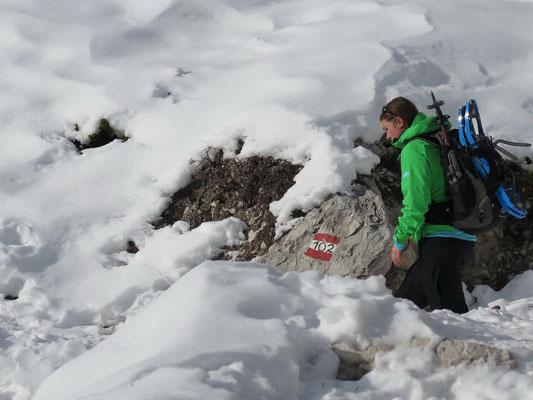 Umso höher wir kommen umso mehr Schnee hat es