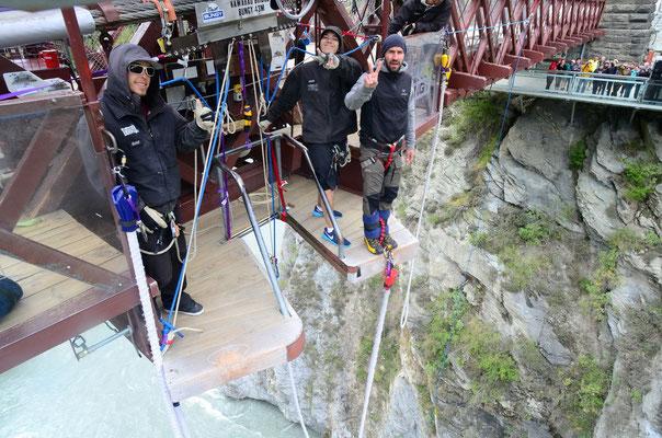 Queenstown - geschichtsträchtiger Bungee Jump 43 Meter