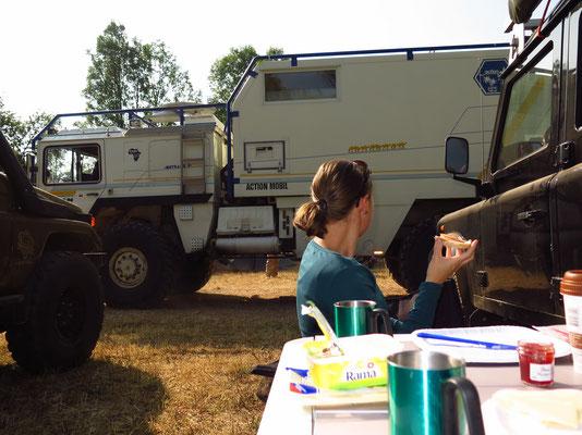 Camping Area: Gute Aussichten beim Frühstück!