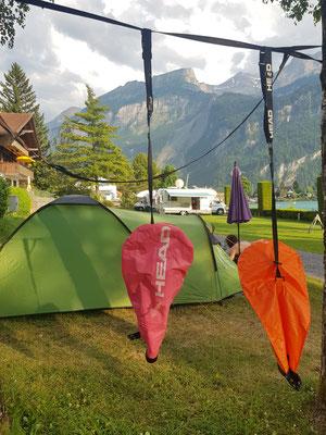 Brienz auf dem Camping im Zelt