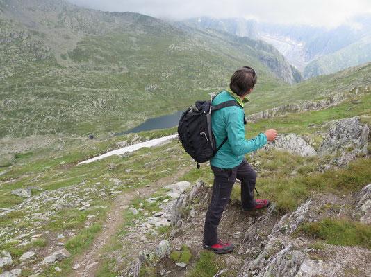 Unser Bergführer Michi auf dem Tälligrat