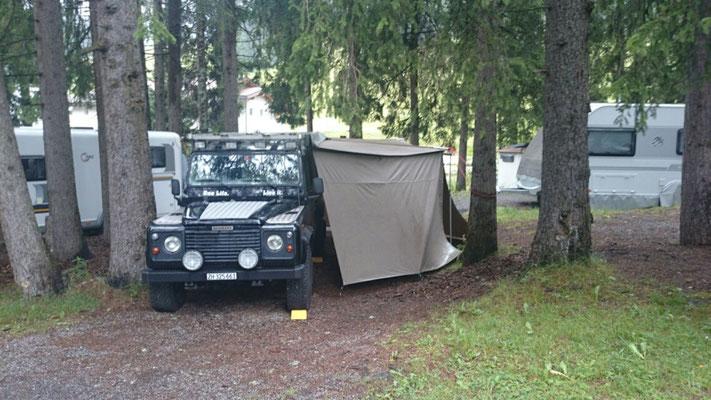 Unser Camping - 2.5km vom Start entfernt