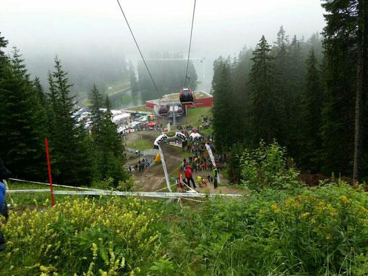 Sicht auf die Strecke zur Talstation