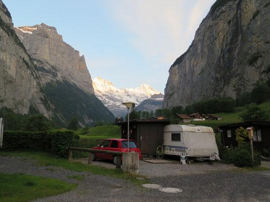 Aussicht von unserem Campingplatz