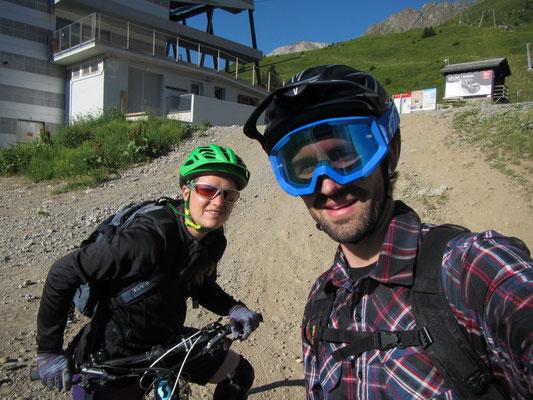 Freitag Abend: Bike Sunset Talabfahrt von Scharmoin
