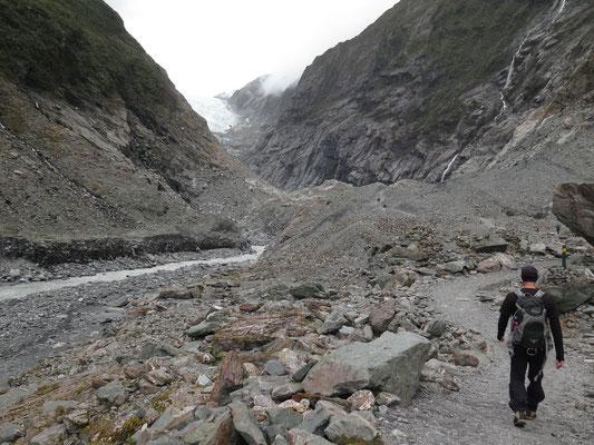 Valley Wanderung zum Franz Josef Gletscher