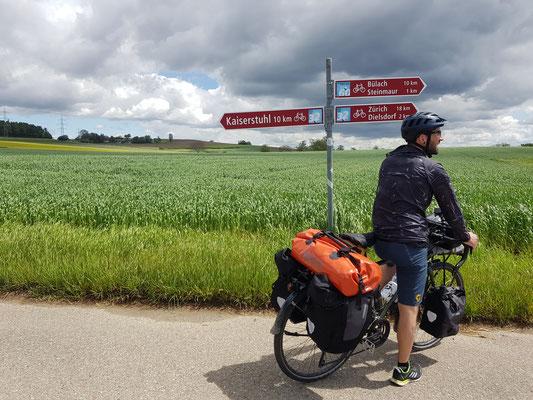 Letzte Etappe: Heimfahrt Richtung Zürich