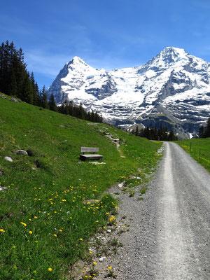Sicht auf Eiger und Mönch