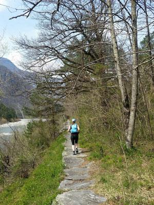 Trailrun entlang der Maggia