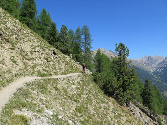 Wanderung Richtung Chamanna Cluozza