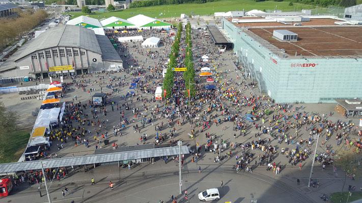 GP Bern EXPO von unserem Hotel aus