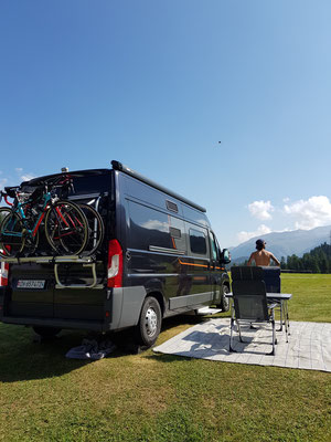 Camping in St.Moritz