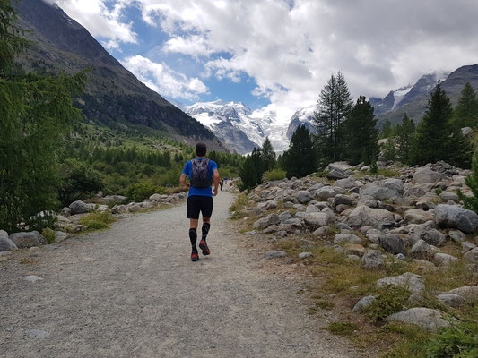 Trailrun zum Morteratsch Gletcher