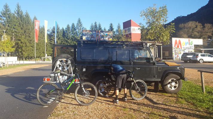 Start MTB Tour Monte Tamaro