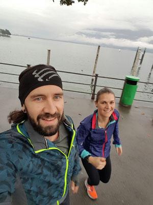 Joggen am See in Locarno