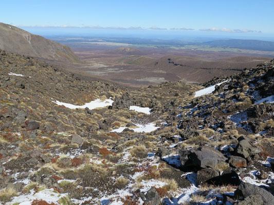 Tongariro Alpine Crossing Wanderung.