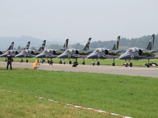 Aussicht auf das Breitling Jet Team
