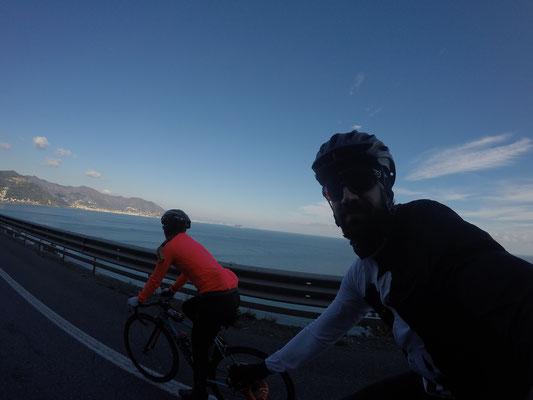 Radtour zurück entlang der Küste