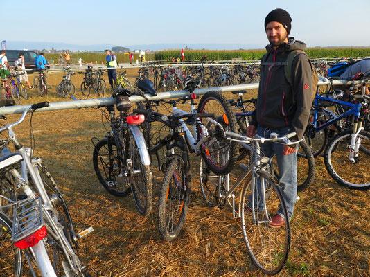 2. Tag an der Airshow...wir reisten mit dem Fahrrad an