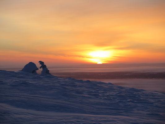 Gerade noch den Sonnenuntergang gesehen um 13:18 Uhr