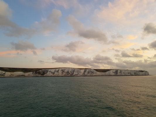White Cliffs sind sichtbar