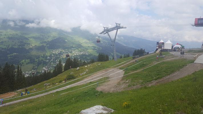 Streckenbesichtigung des Downhill Cups