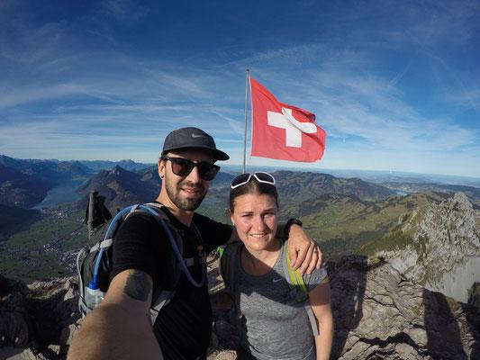 Geschafft ..auf dem Gipfel mit zig anderen Wanderer