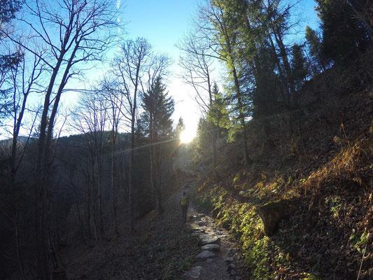 Aufstieg von Brunni nach Holzegg