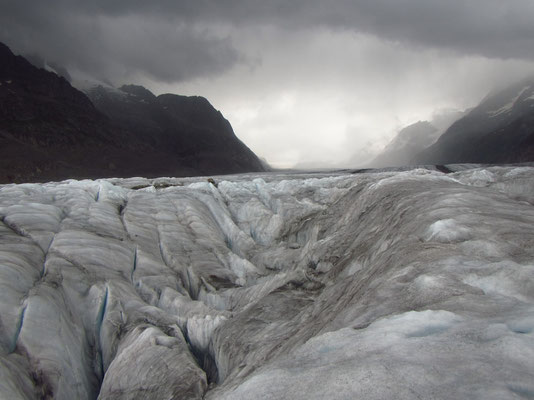 Mystische Stimmung auf dem Gletscher und ar...kalt