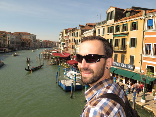 Mike auf der Rialtobrücke