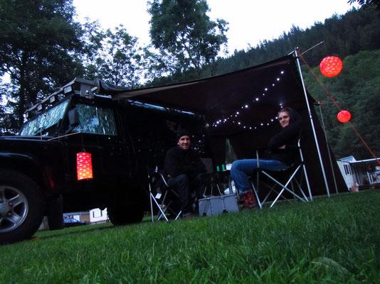 Auf dem Camping feiern wir 1. August....was für ein super Tag es doch war!
