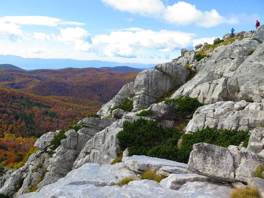 Wunderbare Herbstfarben und Ausblick
