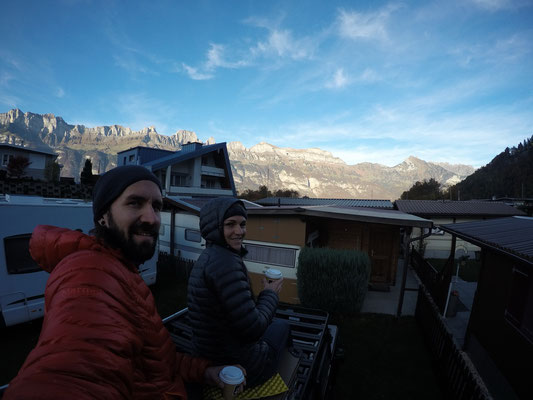 Camping Terza - Abendstimmung geniessen auf dem Dach von Bagheera