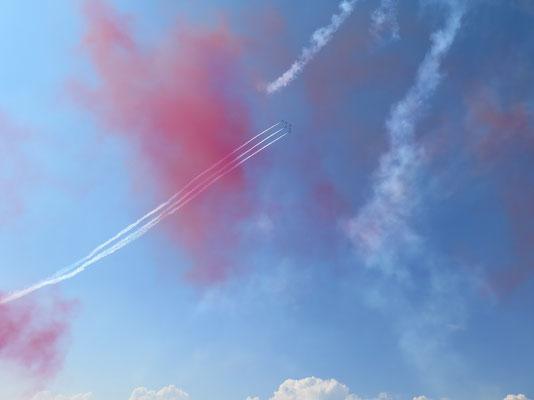 ...und wenn die fliegen hat's viel Farbe am Himmel
